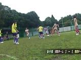 Japanische Damen spielen nackt Fußball und masturbieren anschließend gegeneinander im Wettbewerb