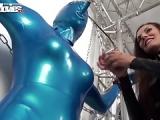 Blauer Latexanzug – Ganzkörper-Latex-Anzug